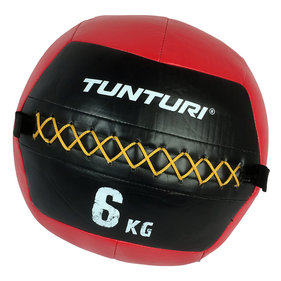 Tunturi Wall Ball - Medicine ball - Crossfit ball - 6kg - Red