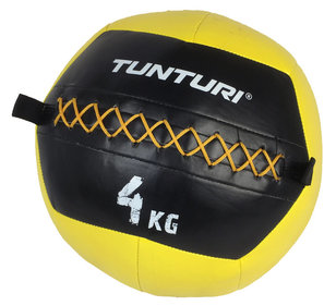 Tunturi Wall Ball - Medicine ball - Crossfit ball - 4kg - Yellow