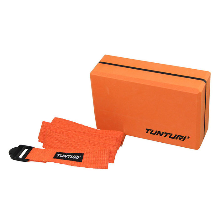 Tunturi Yoga Block set with Strap