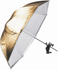 Falcon Eyes Flash-Regenschirm URK-48TGS Transparent / Gold / Silber 100cm
