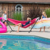 Vivere Combo polyester hammock with stand (280 cm)
