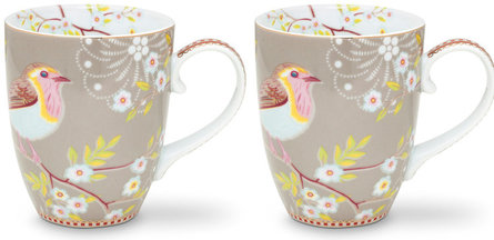 Pip Studio Early Bird Tasse 350 ml - 2er Set