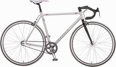 Leader Fixed Gear Bike Silver