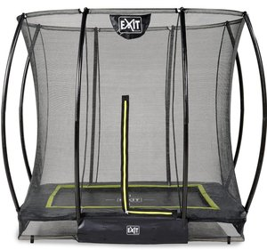 EXIT Silhouette ground trampoline 153x214cm with safety net