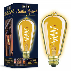 KS Rustic Spiral LED 4W