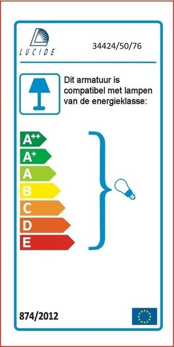 Lucide - BOUNDE - Hanglamp - 34424/50