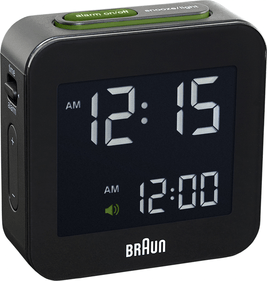 Braun-Funk-reisewecker, LED, Snooze-Funktion, Licht BNC008WH-RC