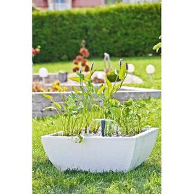 Heissner water garden set square white 75x75x30 cm