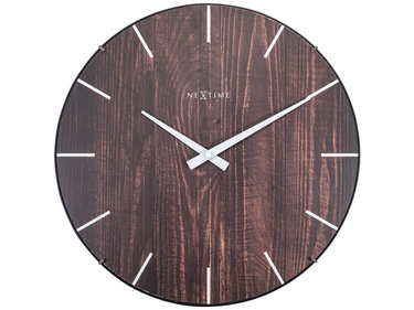 Nextime Edge-Wood-Dome - wandklok
