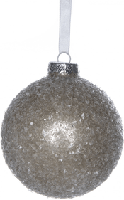 Glass Christmas bauble Icy