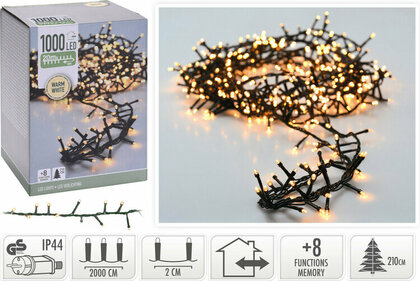 Valetti Microcluster 1000LED WW 20mtr kerstboomverlichting