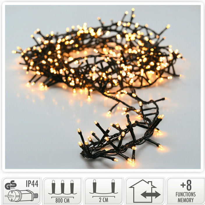 Valetti Microcluster 400LED WW 8mtr kerstboomverlichting