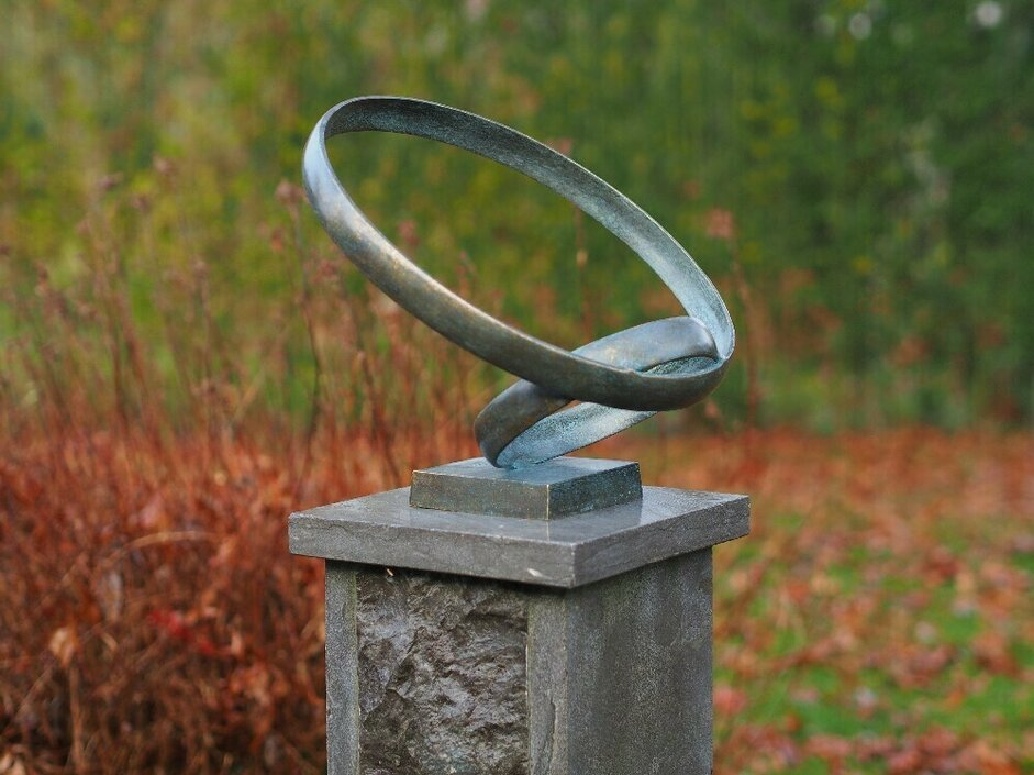 Bronzartes sculptuur together tuinbeeld
