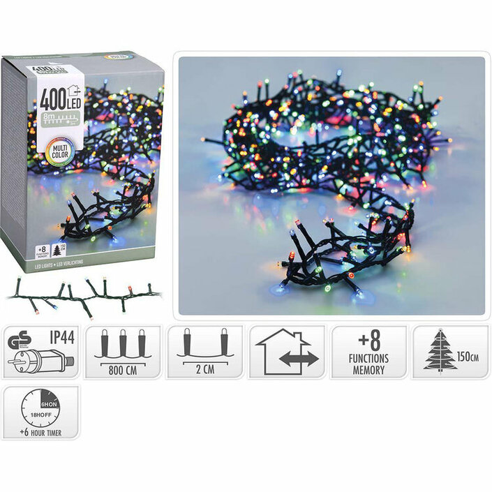 Valetti Microcluster 400LED Multi 8mtr kerstboomverlichting