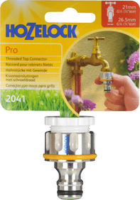 "Hozelock Pro Metal External tap connection 3/4 ""and 1/2"""