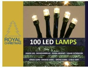 Royal Christmas Warm LED Kerstverlichting 100 LED lampjes kerstverlichting