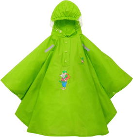 Willex Children's Rain Poncho Frog and Friends