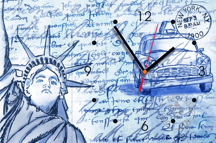 Contento Statue of Liberty Sketch wandklok