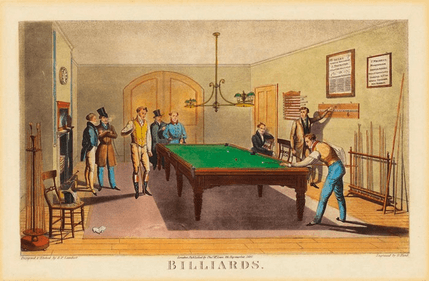 Cartel de billar Salle The Billiard