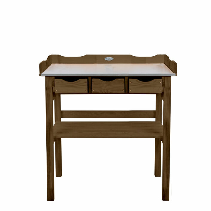 Esschert Design potting table with drawers