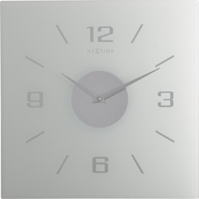 NeXtime Willie Glass Wall Clock