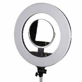 StudioKing LED-480ASK op 230V LED ringlamp set