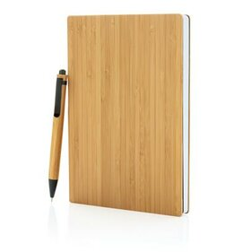 XD Design A5 Bamboe notitieboek & pen set