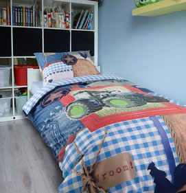 Dreamhouse Bedding For Kids Tractor kinderdekbedovertrek