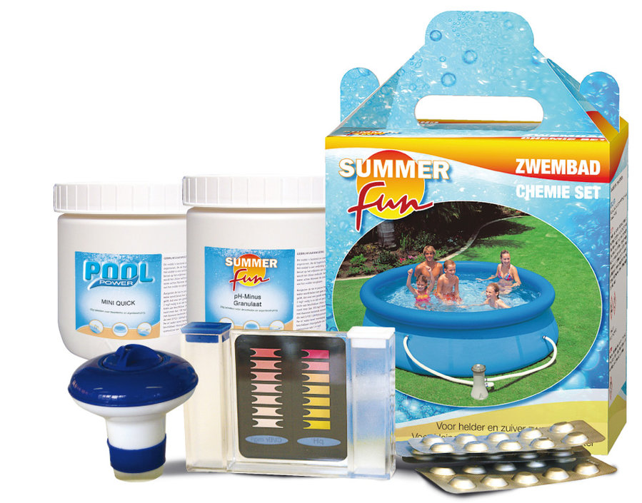Summer Fun chemistry starter set for swimming pool 4-piece