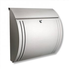 Burg Wachter Modena 3857 Ni Stainless Steel Post Box