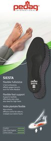 PEDAG Siesta Insoles Made Of Black Leather High Heel Shoes Heels And Tight Shoes Anatomical And Flexible Support Lowering And Spreading Foot Activated