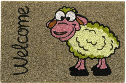 Hamat Ruco Print Welcome Sheep kokosmat