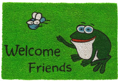 Hamat Ruco Print Welcome Friends Frog kokosmas