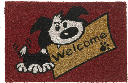 Hamat Ruco Print Welcome Dog kokosmat