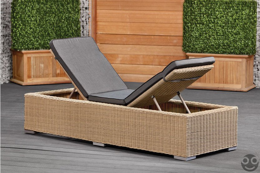 Gardexo Palermo wicker lounger