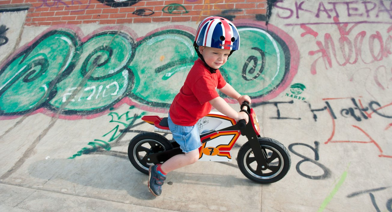 Kiddimoto Union Jack kinderhelm