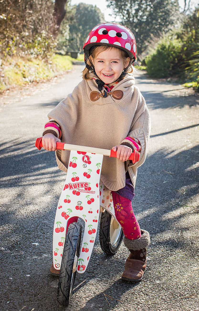 Kiddimoto Red Dotty Fahrradhelm Kinder