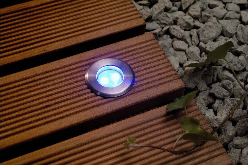 Garden Lights LED-Einbauleuchte Blue 12V LED Bodenspot