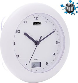 Balance Time Bathroom clock with thermometer