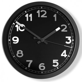 Invotis Nero wall clock