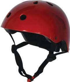 Kiddimoto Metallic Red kinderhelm