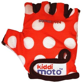 Gants de cyclisme Kiddimoto Red Dotty