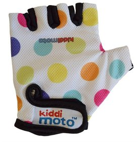 Gants cyclistes Kiddimoto Pastel Dotty
