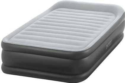 Intex Deluxe Pillow Rest Raised Bed Twin Fiber-Tech