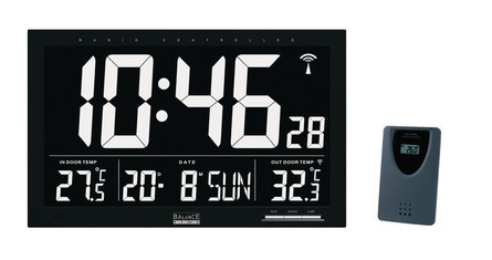 Balance Time LCD channel controlled wall clock
