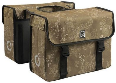 Willex Paisley double bicycle bag