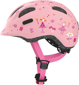 Abus Smiley 2.0 Princess M roze kind fietshelm