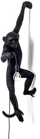 Seletti Hanging Monkey Lamp Black