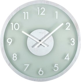 NeXtime Frosted Wood wall clock