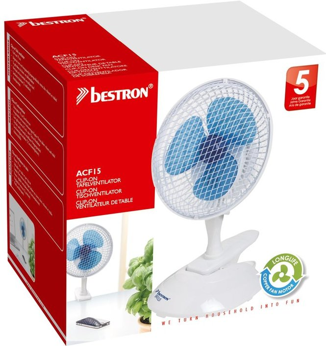 Bestron ACF15 clip-on tafelventilator